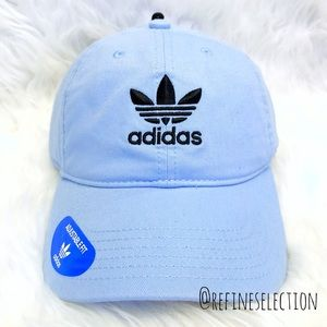 adidas Trefoil Baby Blue Relaxed Strapback Dad Hat